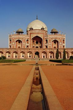 A complex of Mughal architecture built as Mughal Emperor Humayun's tomb, Nizamuddin, Delhi, India - Listed as a UNESCO World Heritage Site.