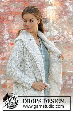 11eedec52068 Hand-Knit Danbury Hooded Sweater Jacket in Lion Brand Wool-Ease ...