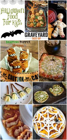 Halloween Food For Kids - a fun collection of creative Halloween party food for kids (adults would love these too!)