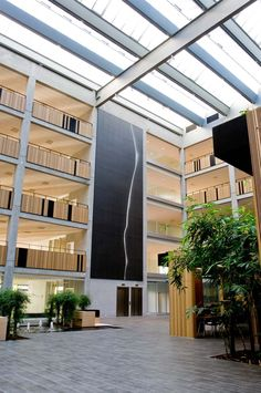 Atriums can be the heart of the building. Great atriums provide social gathering and interaction between people. Bright atriums extend the light to the buildings which brings more welcoming atmosphere to the users.