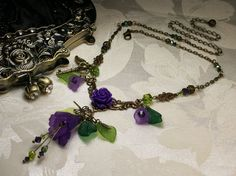 Purple+and+Green+Crystal+Frosted+Lucite+by+TitanicTemptations,+$69.00
