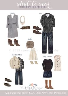 What to wear for Family Holiday Photos / Neutrals.