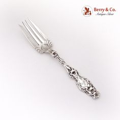 Lily Cold Meat Fork Sterling Silver Whiting, 1902