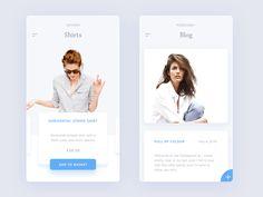 Fashion App #ui #ux #animation #mobile #dribbble #gif #ios #iphone #interface…