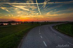 Sunset along the river by Michel de Nijs Bik, via 500px