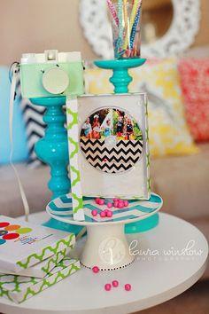 mini chevron cake stand