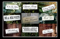 Sweeties please help yourself candy bar wedding sign shabby chic wooden vintage | eBay