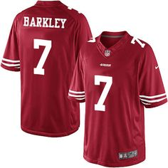Youth Nike San Francisco 49ers #7 Matt Barkley Limited Red Team Color NFL Jersey