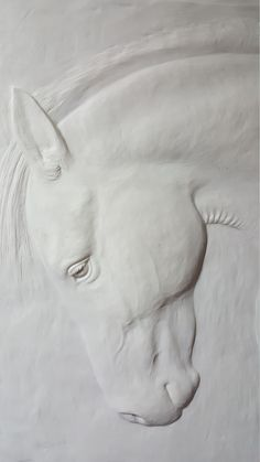 Horse Sculpture, Sculpture Clay, Animal Sculptures, Wall Sculptures, Horse Head, Horse Art, Horse Horse, Horses, Plaster Art