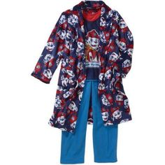 Boys' Licensed 3 Piece Robe and Pajama Sleepwear Gift Set, Available in 4 Characters, Size: 10/12