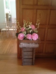 Crates of flowers at Coombe Lodge
