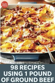 98 Recipes Using 1 Pound Of Ground Beef Spice it up and try one of our versatile recipes tonight. - 98 Recipes Using 1 Pound of Ground Beef Ground Beef Dishes, Ground Beef Recipes For Dinner, Ground Meat Recipes, Dinner With Ground Beef, Ground Chuck Recipes Dinners, Sunday Dinner Recipes, Beef Casserole Recipes, Mince Recipes, Pork Recipes
