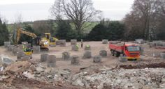 The mass concrete foundations are up to the final levels
