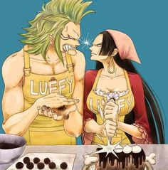 Bartolomeo Boa Hancock... lol can you imagine those two meeting each other? That would be pure comedy gold! :D