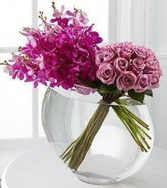 Duet Luxury Rose Bouquet – 18 Stems of Premium Long-Stemmed Roses Create harmony and peace in honor of the bond you share. This unique and fashionable bouquet bursts with our finest blooms. Brilliant violet Mokara Orchids are the perfect pairing to Jeff Leatham, Flower Arrangements Simple, Same Day Flower Delivery, Rose Vase, Lavender Roses, Arte Floral, Rose Bouquet, Amazing Flowers, Mother's Day