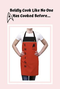 ·Boldly Cook Like No One Has Cooked Before! This awesome Star Trek uniform apron will help you do just that. A perfect way to flaunt your love of Star Trek and the ideal Geek gift for any Trekkie who appreciates something a little different. Star Trek Insignia, Star Trek Gifts, Star Trek Uniforms, Backyard Cookout, Unique Gifts For Mom, Funny Outfits, Geek Gifts, For Stars, Apron