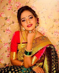 Indian Wedding Photography Poses, Bride Photography, Marathi Bride, Marathi Saree, Indian Bridal Photos, Saree Poses, Nauvari Saree, Indian Bride And Groom, Wedding Couple Poses