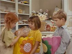 Pippi Longstocking raiding the candy store
