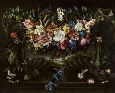 Arellano, Juan de. Title:Garland of flowers and landscape
