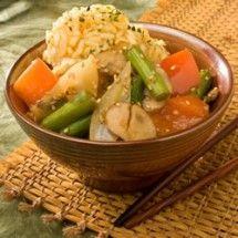 Stir-Fry: Stir Fried Sesame Vegetables with Rice