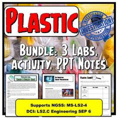 Learn about plastic! Fun science bundle that supports NGSS Ecosystems.This bundle includes:Shark Tank Invention presentation based on the TV show. A student favorite!Plastic Testing LabPlastic Count LabPlastic PPT with student notesPolymer Bouncy Ball Lab- another student favoriteIncludes the resource How to write a lab report for FREE!This unit takes 3-4 weeks.