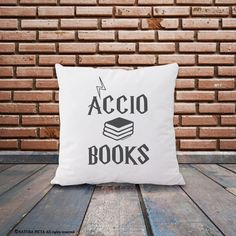 Accio books quote pillow cover-Potter quote pillow case-custom pillow-Harry Potter throw pillow-harry potter home decor-NATURA PICTA NPCP002 by naturapicta on Etsy https://www.etsy.com/listing/251121884/accio-books-quote-pillow-cover-potter