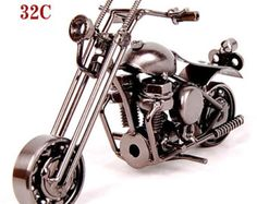 Hand Carved Metal Art Model Motorcycle HARLEY Iron Motor Sculpture Hand Made…