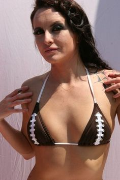 Ballsy Babe Swimwear On Pinterest Triangle Top Football