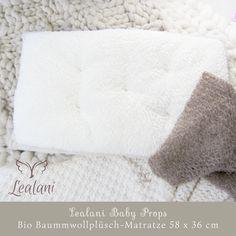 Lealani Baby Props - Bio Baumwollplüsch Matratze von Lealani / Schnörkelwerk auf DaWanda.com