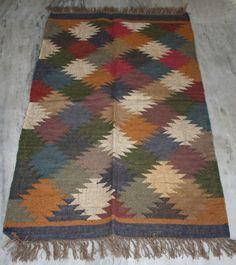 Kilim Rugs Wool Jute Tribal, Persian, Bulgaria, 3x5 ft Rug, Carpet, Dari, Runner #Turkish