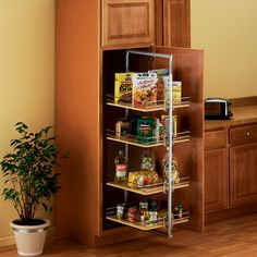 Kitchen Pantry Organization, Pantry and Tall Cabinet Fittings, Pantry Shelving by Hafele, Knape & Vogt, Omega National and Rev-A-Shelf at Cabinet Accessories Unlimited Pantry Rack, Pantry Shelving, Kitchen Organization Pantry, Pantry Storage, Kitchen Pantry, Kitchen Storage, Kitchen Ideas, Kitchen Organizers, Pantry Cabinets