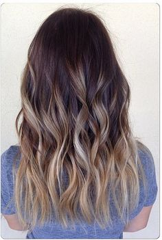 ash ombre and bronde higlights - hair color ideas blog