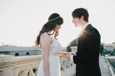 Romantic newlywed portrait   Photo by Rad + In Love