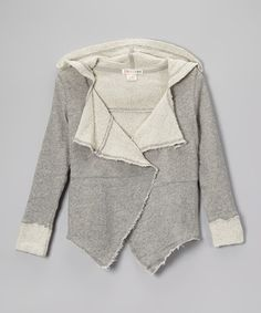 Look what I found on #zulily! Heather Gray Kassidy Open Jacket - Toddler & Girls #zulilyfinds