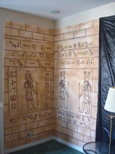For our party this year , the theme is ( of course ) Egypt. Here's a step-by-step on how I'm making my hieroglyphic walls. Each of these walls have a Egypt Decorations, Egyptian Themed Party, Egypt Crafts, Thinking Day, Halloween Themes, Halloween Forum, Halloween 2017, Escape Room, Ancient Egypt