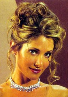 curly bridal hairstyles | Big And Curly Wedding Updos. Long Brown With Blonde Streaks Curly Hair ...