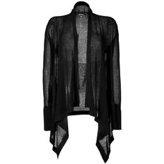 DKNY Silk-Cashmere Cardigan in Black ($162) ❤ liked on Polyvore featuring tops, cardigans, jackets, outerwear, sweaters, black cardigan, loose cardigan, waterfall cardigan, cashmere waterfall cardigan and sheer long sleeve top