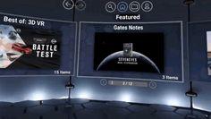 Visualizzazione del menù di Gates Notes da Gear VR