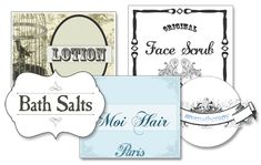 Vintage Shabby Chic Nostalgic Beauty Labels / Printables (blank)