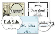 Vintage Shabby Chic Nostalgic Beauty Labels / Printables (blank)