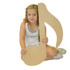 Music Note ,Craft, Wooden Unfinished ,Shape, 24''x 3/8
