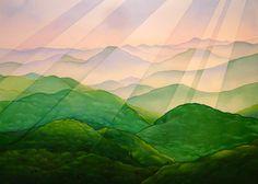 """The Great Smokey Mountians""  watercolor by Neil Waldman - 24""x36"""