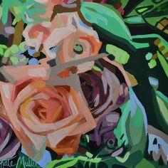 Flower Painting by Kate Mullin Art. www.katemullinart.com