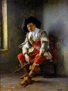German musketeer, Thirty Years War Military Art, Military History, Renaissance, Irish Images, Thirty Years' War, Baroque Painting, Landsknecht, Man Of War, Academic Art