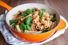 Maria Uldahl - Grønn matglede: One pot pasta med cherrytomater og sopp