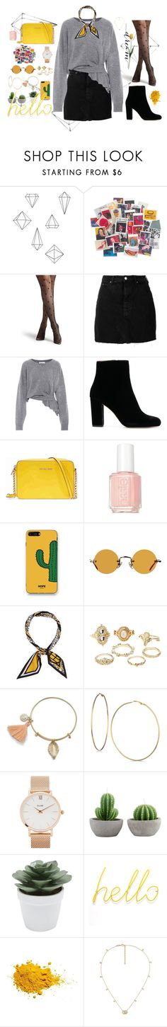 """""""Untitled #1181"""" by maria-canas ❤ liked on Polyvore featuring Umbra, Andy Warhol, IRO, Balenciaga, Michael Kors, Essie, WithChic, Hakusan, Henri Bendel and Charlotte Russe"""