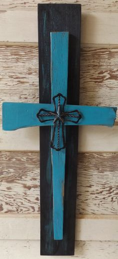 Sometimes I am inspired to make something meaningful out of scraps of wood and this piece is no exception! This cross was crafted from reclaimed fence pickets and wood that was too 'imperfect' to use