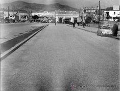 Barcelona. Av. Meridiana (entre Escocia y Fabra y Puig). Febrero 1961. Foto original (23 x 18 ctms)