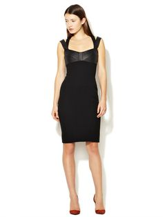 Seamed Leather Bodice Sheath by Narciso Rodriguez on Gilt.com