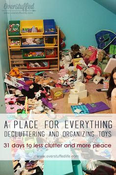 The process of organizing toys can be a painful one. Here are some great ideas to cut down your toy population and get those toys organized! #overstuffedlife